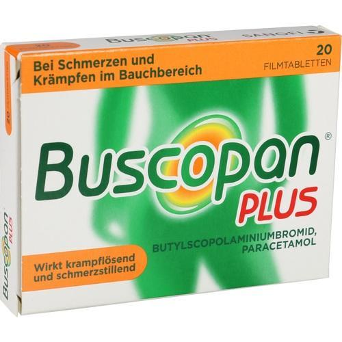 buscopan plus filmtabletten 20 st von sanofi aventis. Black Bedroom Furniture Sets. Home Design Ideas